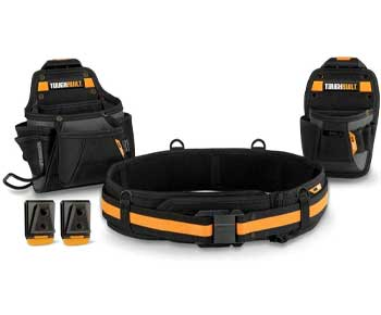 ToughBuilt - Handyman Tool Belt Set - 3 Piece, Includes 2 Pouches, Padded Belt, Heavy Duty, Deluxe Organ