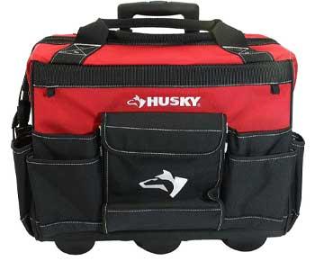 Husky-18-Inch-600-Denier-Red-Water-Resistant-Contractors-Rolling-Tool-Tote-Bag